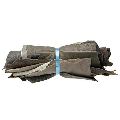 1Kg Lederstücke Möbelleder mindestens A4 groß Varianten von Grau , alle Stücke mind. DIN A4 groß von Langlauf Schuhbedarf ®