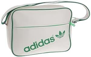 adidas Schultertasche Airline Bag Perf, running white/fairway/green zest s13, 38 cm x 12 cm x 28 cm, 16.6 Liter, Z20019