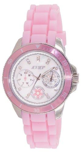 Jet Set J50962-140 - Orologio da polso donna, caucciú, colore: rosa