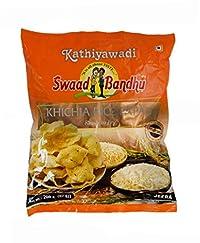 Swadbandhu Kathiyawadi Rice Papad - Khichia Rice Papad - Jeera Flavoured Papad - Hygienically Prepared - Ready to Fry/Roast Papadums - Best Meal Accompaniment - 400g (200g x Pack of 2)