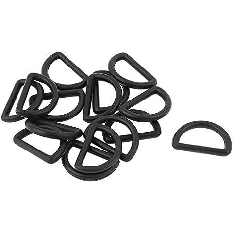 sourcingmap Plastic mochila bolso Meeny ganchos SODIAL piratenladen 19 mm 15 piezas Negro