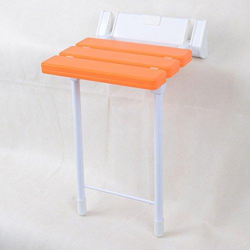 QFFL Tabouret Se Pliant fixé au Mur créatif/Chaise d'allée de sécurité/Tabouret de Salle de Bains 32 * 50 Cm Tabouret d'extérieur (Couleur : Orange)