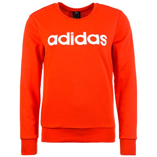 adidas Performance Essentials Linear Sweatshirt Damen rot/weiß, M
