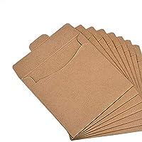 Pochettes pour CD Organiseur de papier Kraft CD DVD enveloppes Sacs en papier pour emballage carton Box 30 Packs