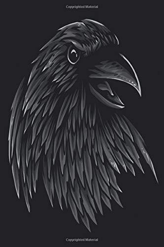Sketchbook: Raven Medium Size Blank Notebook Ideal for Drawing, Sketching and Doodling (Halloween Doodles 2019)