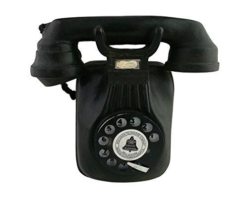 Vintage Retro Resina antiguo negro Dial teléfono