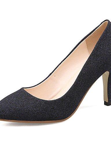 WSS 2016 Chaussures de mariage-Noir / Rouge-Mariage / Habillé / Soirée & Evénement-Talons / Escarpin Basique / Bout Pointu-Talons-Homme 2in-2 3/4in-black