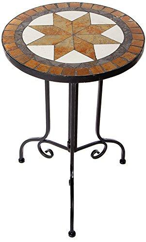 Mosaik-Beistelltisch, Mehrfarbig, 38x56x38 cm rund (Stein Tisch)