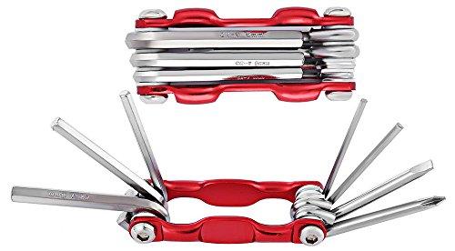 BIPY Multifunktions-Fahrradwerkzeug Hand Werkzeug Mechaniker Hohe Sprungs Langlebig Fahrrad Automechaniker Reparatur Werkzeuge 7in alle 1Stück, rot
