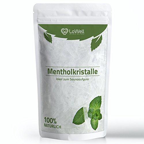 LoWell® ❤ - Mentholkristalle 100g - Premium-Qualität Sauna Kristalle Menthol - Saunakristalle