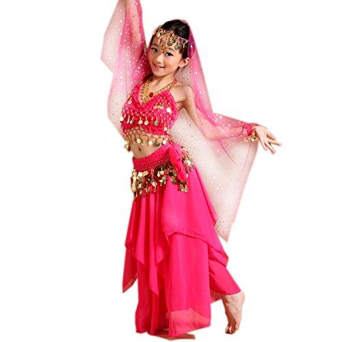 faschingskostueme bollywood Bauchtänzerin Kinderkostüm Bollywood Kostüm Mädchen Faschings-Kostüme Gelbrot 140 146
