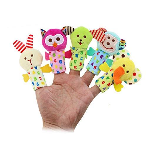 symboat juguete niño 5pcs historieta animal Dedo marioneta bebé de peluche juguetes...