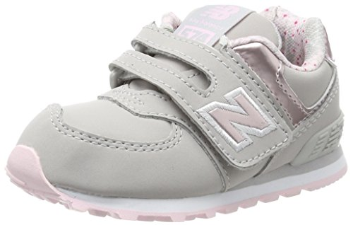 New Balance Unisex-Kinder Sneaker, Grau (Grey/Pink), 31 EU (12.5 UK Child) New Balance Sneakers Velcro