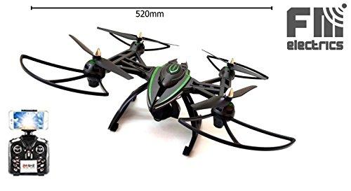 FM506w | Quadrocopter mit verstellbarer Wifi FPV-Kamera, Kameradrohne mit riesen Durchmesser von 52...