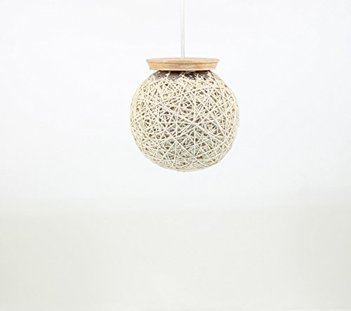 Eartho Hanging Lamp with yarn (Small, Beige)
