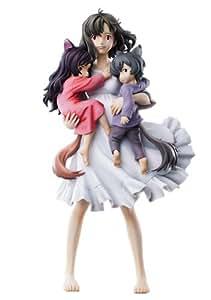 Rain And Snow Wolf Children Super Figurine Art Collection Ame and Yuki Hana Figurine