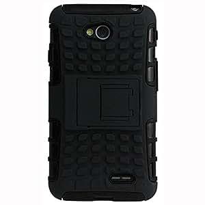 TOSKickstand Back Case Cover for LG L70 D320N (Black)