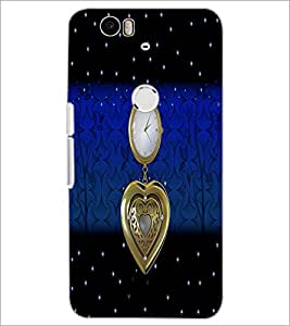 PrintDhaba Antique Watch D-4260 Back Case Cover for HUAWEI NEXUS 6P (Multi-Coloured)