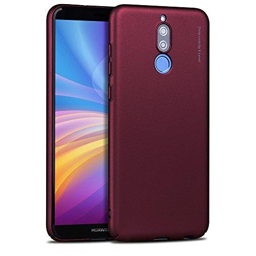 X-level Huawei Mate 10 Lite Hülle, [Kinght Serie] Hart Handlich [Weinrot] Premium PC Material Gutes Gefühl Handyhülle Schutzhülle für Huawei Mate 10 Lite Case Cover
