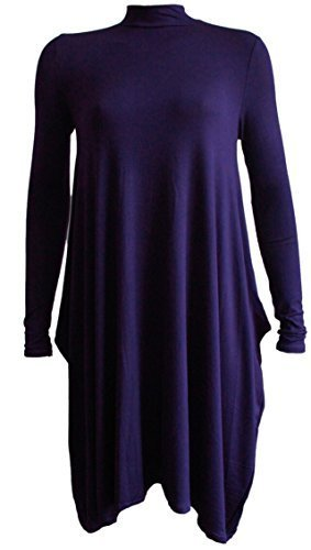 Fashion 4 Less Nouveau Femme Mouchoir Polo Swing Robe. 36 - 42 Bleu Marine