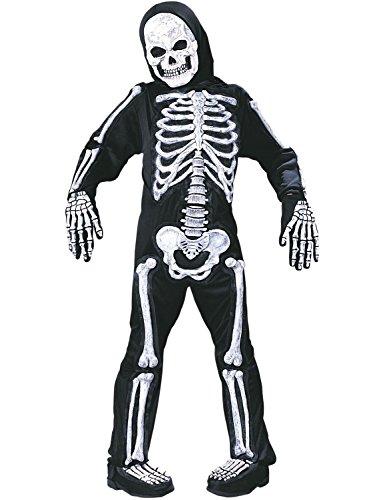 Skelebones Skelett Weiß Kostüm Halloween Horror Karneval Verkleidung -