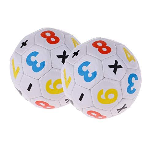 Unbekannt 2er Set Weiß Offiziell Fußball für Kinder Spielzeug Durchmesser: Ca. 15 cm -