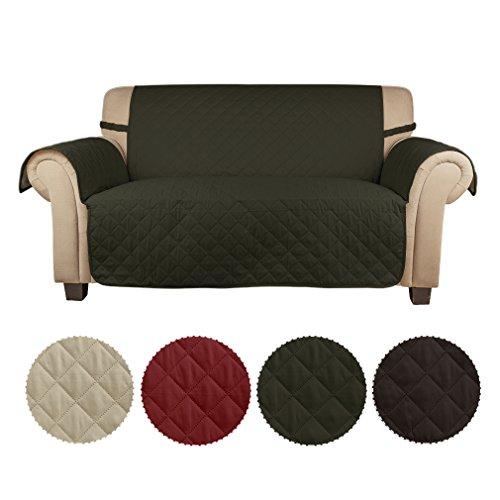 Auralum® Sesselschoner Schonbezug ca. 167cm*112cm 2-Sitzer Sofaschoner Sofabezug Sofaschonbezug Sofa Überwurf Armee-Grün