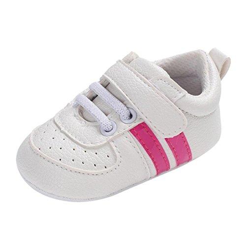 Sannysis Jungen Mädchen Soft Newborn Anti-Rutsch-Baby Sportschuhe Atmungsaktiv Laufschuhe Hallenschuhe Freizeit Turnschuhe für Kinder (13, Pink-1)