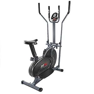 Fitfiu Fitness ORB2600S, Cyclette Ellittica con Ergometro, Display LCD, Cross Training Unisex – Adulto, Nero, M