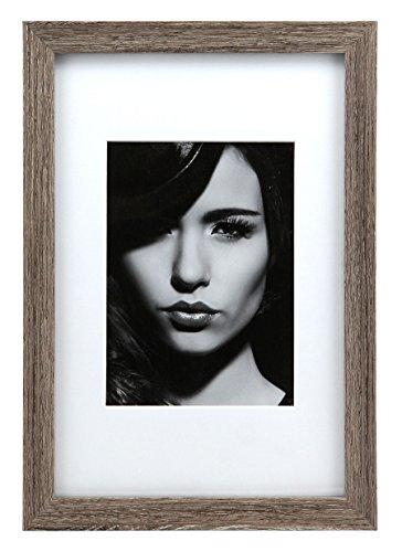 Country Style Holz Bilderrahmen 13x18 bis 60x80 Foto Rahmen mit Passepartout: Farbe: Grau | Format:...
