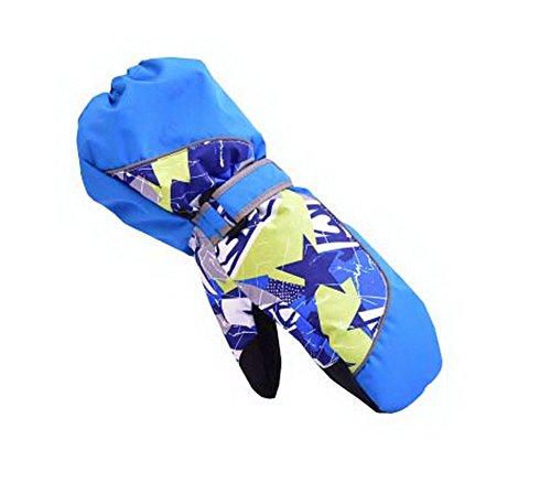Warm Baby-Handschuhe wasserdichten Outdoor-Ski-Baby-Hänge Mittens [Blau Mitten] -