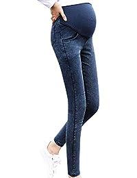 SUNNSEAN Pantalones Premamá Leggings Vaqueros, Elásticos para Mujer Color Sólido Elástico para Maternidad Pantalones Premama Embarazadas Mujer Deportivas Pants Jeans