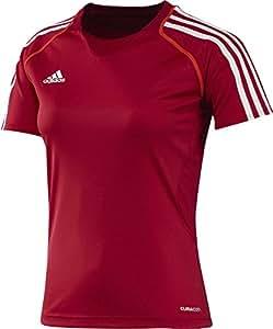adidas Damen Trainingsshirt T12 CC Short Sleeve Tee, University Red / Dark Orange, 32, X13855