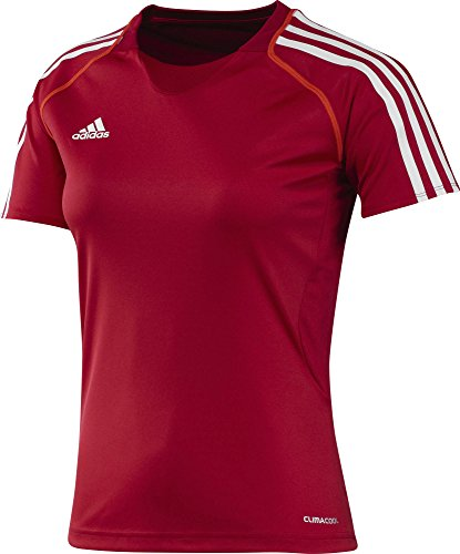 adidas Damen Trainingsshirt T12 CC Short Sleeve Tee T-shirt, Rot/Weiß, 46 -