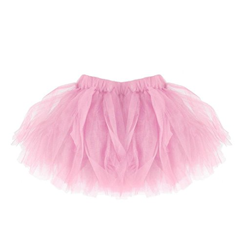 FNKDOR Mädchen Tüll Rock, Tütü Minirock Tüllrock Petticoat Kurze Tutu Rock (Rosa) Antoinette Creme