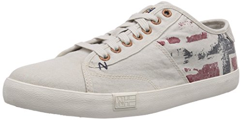 Napapijri asker, Baskets Basses Homme Blanc - Weiß (moonbeam beige N21)