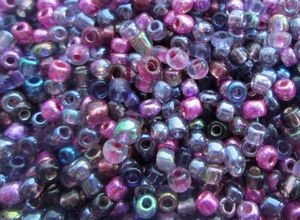 50g (approx. 1800 beads) Size 8/0 Seed Beads and Seed Bead Mixes - 1st4Beads (TM) - (Amethyst/Pink/Purple Mix)