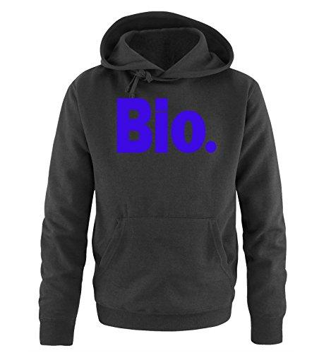 Comedy Shirts - Bio. - Uomo Hoodie cappuccio sweater - taglia S-XXL different colors nero / azzurro