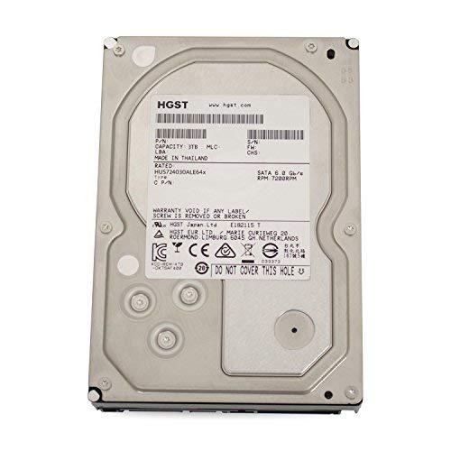 Hitachi HGST UltraStar 7K4000 3TB HUS724030ALE641 3,5' SATA3 64MB 7200RPM, RAID 24x7 ENTERPRISE (Zertifiziert und Generalberholt)