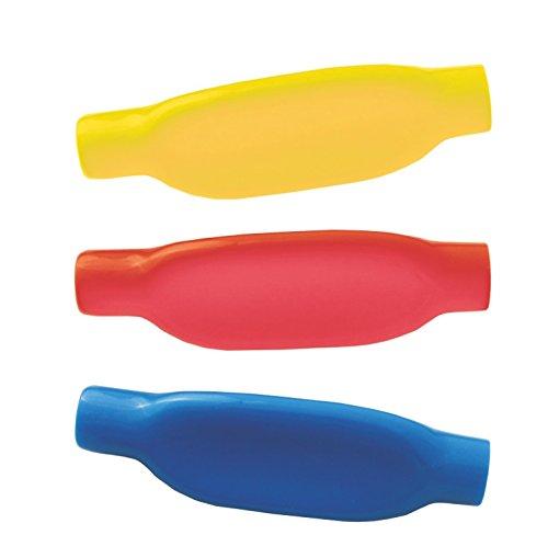 Schreibgriffe weich , dreieckig 3 Stück - Schreibgriff Stifthalter Schreibhilfe (gelb - rot - blau)