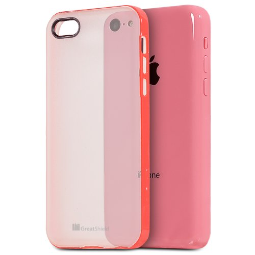 iPhone 5C coque, GreatShield Slim-Fit TPU Pare-chocs Case avec dure Cover pour Apple iPhone 5c - Vert Rose