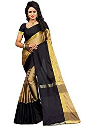 Bhuwal Fashion Classic Beige Cotton Silk Saree with Blouse