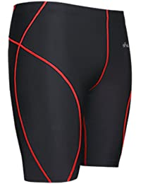 emFraa Mens Womens Running Noir Compression Baselayer Shorts S ~ 2XL