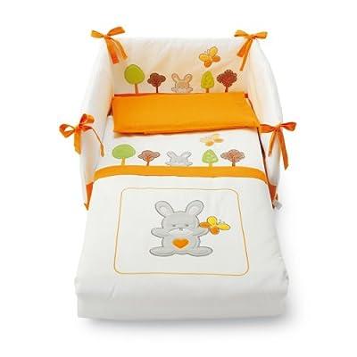 Pali Spa Bosco - Kit de cuna con 3 piezas, color naranja