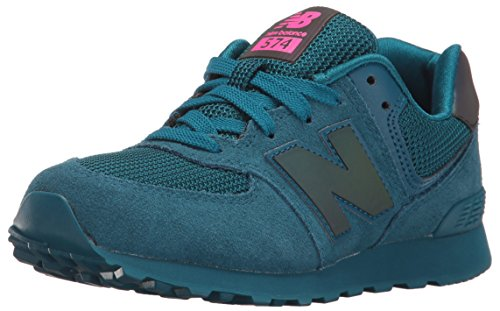 New Balance Youths 574 Urban Twilight Green Suede Trainers 40 (Balance Runner)