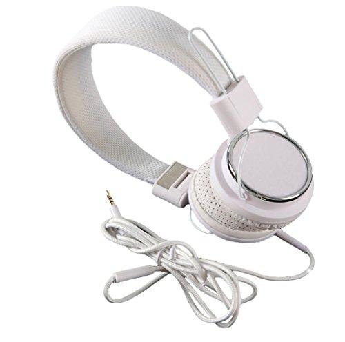 Preisvergleich Produktbild jntworld Farben faltbar zusammenklappbar Freisprecheinrichtung Headset mit Mikrofon DJ über den Kopf Kopfhörer für Apple iPod, iPad, iPad mini nano mp4 Sony, Samsung, iphone 4 4s 5 5S 6, HTC One, Smasung s3 s4 Lte, Weiß