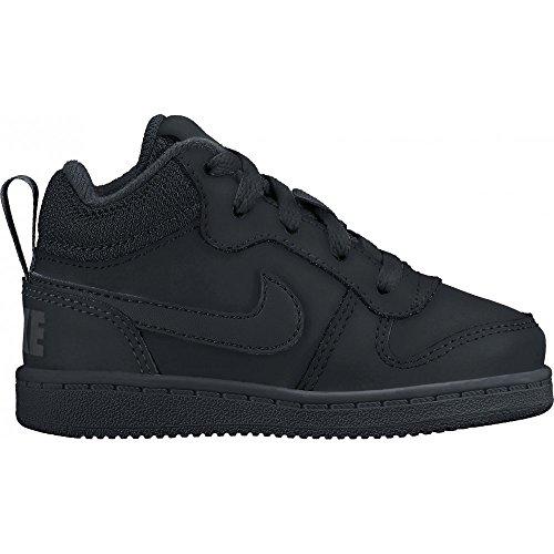 Nike Court Borough Mid (Td), Sneakers basses mixte bébé Noir