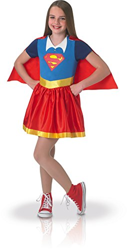Warner-i-630021s-Kostüm Klassische Supergirl Superhero Girls-Größe S (3-4 Jahre) (Super Hero Kostüm Mädchen)