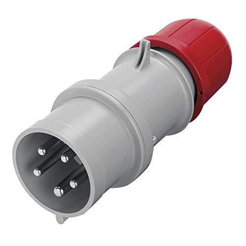 Scame 213.1637P Conector Eléctrico, 415 V, Rojo
