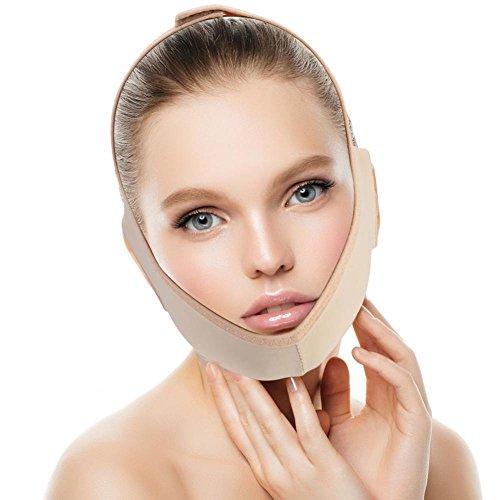 Gesicht Abnehmen Maske, Hals-Unterstützungsaufzug V Face Line Bandagen Gesichts-Doppelkinn-Sorgfalt-Gewichts-Verlust-Gesichts-Gurte(L) -
